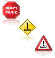 Panic signs vector image