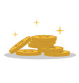 Isolated cartoon shine gold coin vector image