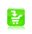 pixel computer icon vector image