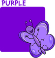 Color Purple and Butterfly Cartoon vector image