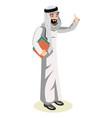 arab man character vector image