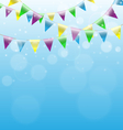 buntings garlands on sky vector image