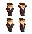 businessman character emotions vector image