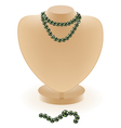 dummy with beads vector image