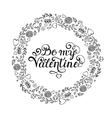 Floral hand drawn wreath vector image