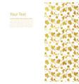 flower golden foil design vector image