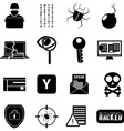 Hacker icons set vector image