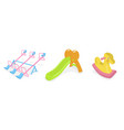 isolated of various playground toy vector image