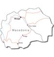 Macedonia Black White Map vector image
