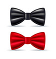 Realistic drawing solemn bow tie black and red vector image