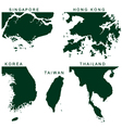 Southeast Asia Pictogram vector image
