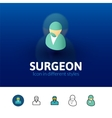 Surgeon icon in different style vector image