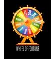 Wheel of fortune infographic design element vector image