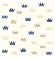 Royal seamless pattern vector image vector image