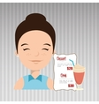 woman cartoon menu food vector image
