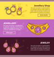 jewelry shop web banners flat template vector image