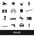 police icons set eps10 vector image