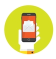 Flat Design Concept Email Send Icon vector image