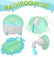 Bathroom Symbol icon set B vector image