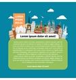Postcard with world landmarks vector image vector image
