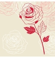 Floral background with pink roses vector image vector image