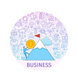 business concept banner vector image