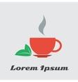 cup of tea green black vector image