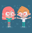 Cute Couple Madly in Love vector image