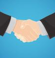 handshake in a businesslike manner vector image
