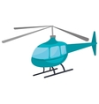 Helicopter icon isolated on white background vector image