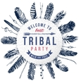 tribal party emblem vector image vector image