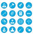 crime icon blue vector image