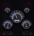 glow speedometer interface vector image