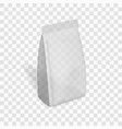 transparent blank plastic or paper packaging with vector image
