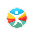 Running man logo template vector image