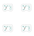 stiker Abstract letter Y logo icon in Blue vector image