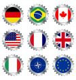 cogwheels with flags vector image