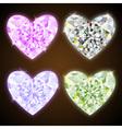 diamond hearts vector image vector image