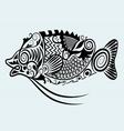 decorative fish vector image vector image