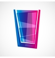 glass with drink vector image vector image
