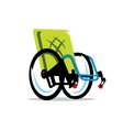 Wheelchair Handicap Cartoon vector image