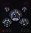 glow speedometer interface vector image
