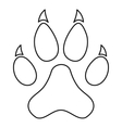 Paw print icon outline style vector image