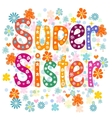 Super sister birthday vector image