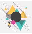 Abstract geometric modern background with vector image vector image