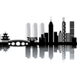 Cityscape silhouette vector image vector image