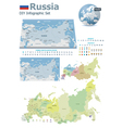 Russia maps with markers vector image vector image