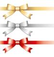 three bows vector image