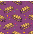 seamless pattern with kids wooden sleigh vector image