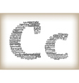 letter c filled by business words vector image vector image
